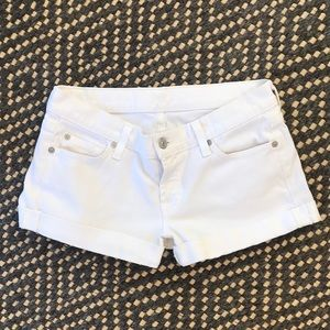 7 For All Mankind Roll Cuff Shorts